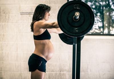беременная спортсменка